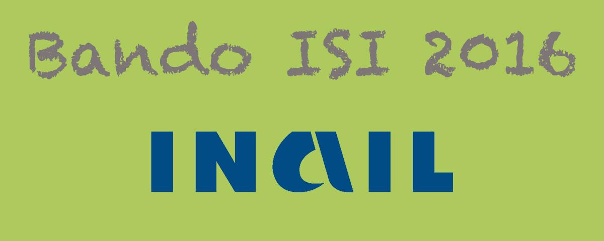 Banner Bando ISI 2016 - INAIL