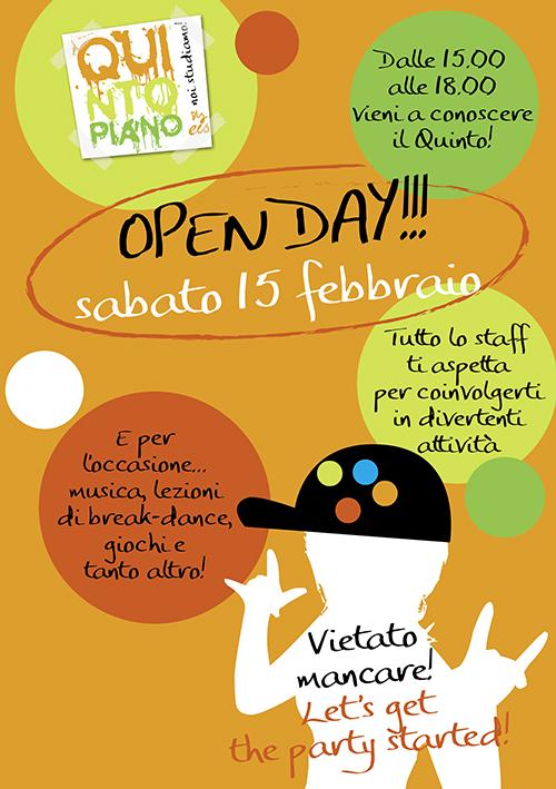 Open day QuintoPiano il 15 febbraio!